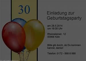 30 Geburtstag Einladung Einladungen Geburtstag