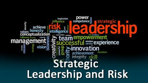 strategic leadership  risk
