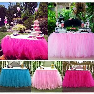 Tuto Tutu Tulle : tulle tutu table skirt tableware wedding party xmas baby shower birthday decor ~ Dode.kayakingforconservation.com Idées de Décoration