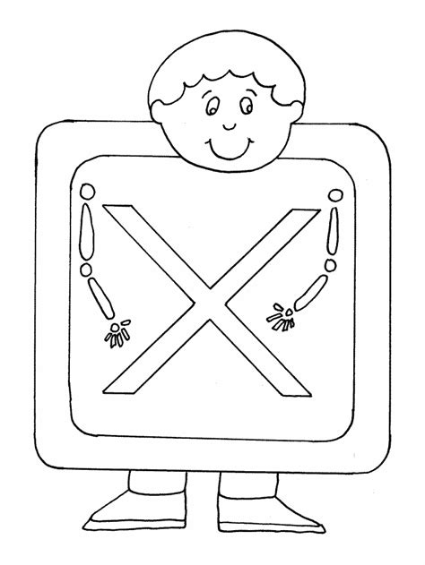 X For Coloring by Printable X Xray Alphabet Coloring Pages