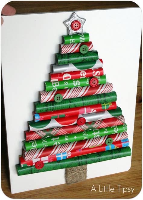how to make a christmas tree save wrapping paper scraps
