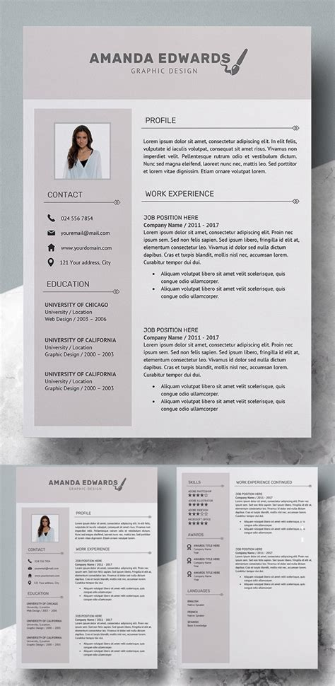 modern professional resume cv template inspiration