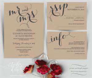 diy wedding invitation mr and mrs wedding invitation instant printable