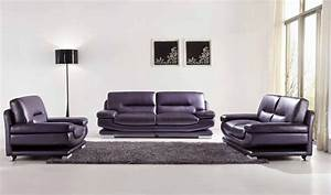 chic modern esf 2757 full purple italian leather sofa set With modern purple sectional sofa