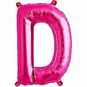 magenta foil balloon letter d 16quot 40cm partyramacouk With hot pink letter balloons