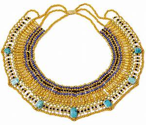 Cleopatra Necklace Collar ancient Egyptian queen costume ...