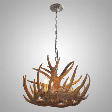 antler  light chandelier rustic cascade ceiling light
