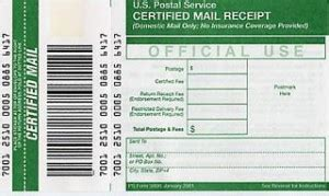 preliminary notices certified mail v certified mail return receipt