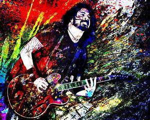 Dave Grohl Art Print, Foo Fighters Canvas, Foo Fighters