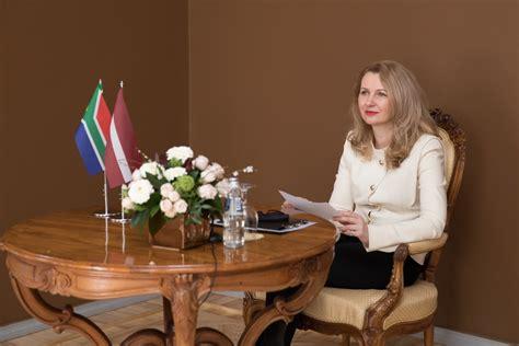 Inese Lībiņa-Egnere aicina Dienvidāfrikas vēstnieci ...