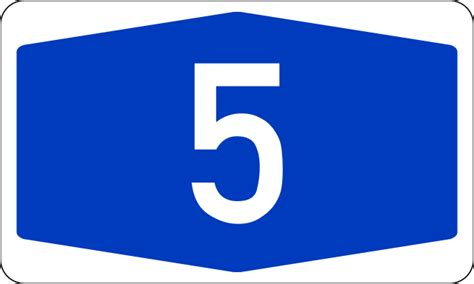 Bundesautobahn 5 Number.svg