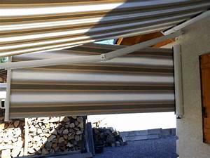 Store Banne Motorise : pose d 39 un store banne ray protection solaire pour terrasse solabaie ~ Nature-et-papiers.com Idées de Décoration