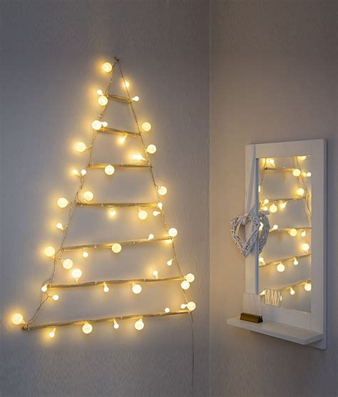 wall mounted modern christmas tree silhouette