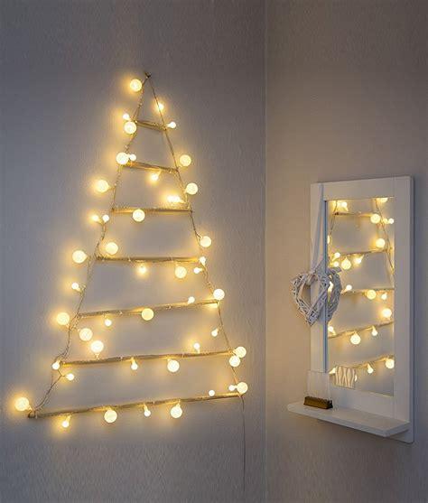 wall mounted modern christmas tree silhouette