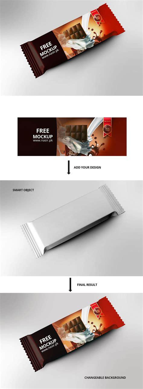 The biggest source of free photorealistic food mockups online! Free Chocolate Bar Mockup PSD ~ Creativetacos