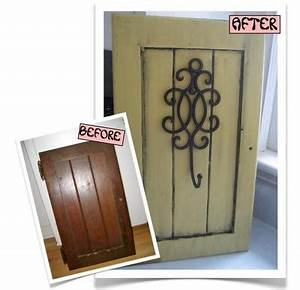 17 best images about repurposed cabinet doors cabinets on With best brand of paint for kitchen cabinets with shabby chic candle holder