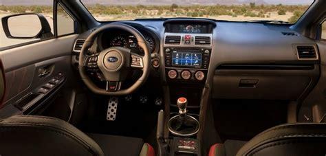 subaru wrx interior 2018 2018 subaru wrx sti price release date specs interior