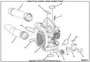 Homelite Ut09520 26cc Blower Parts Diagram For Figure A