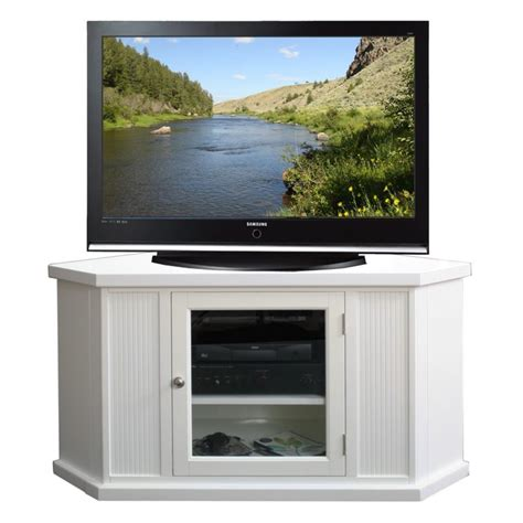furniture white corner tv stand with glass media cabinet door fabulous white corner tv stand