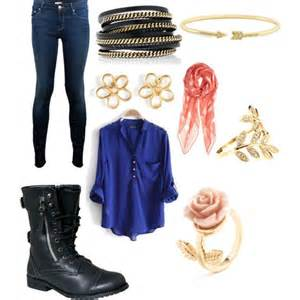 Fall Outfit with Combat Boots