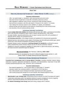 cio sample resume chief information officer resume it With cio resume template