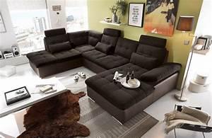 Schlafsofa U Form : jakarta wohnlandschaft mit schlaffunktion couch sofa real ~ Markanthonyermac.com Haus und Dekorationen