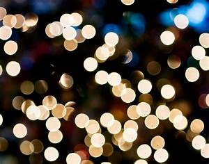 Blurred Christmas Lights Wallpaper