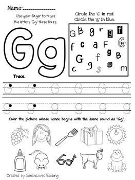 letter g worksheet by sanchilovesteaching teachers pay