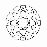 Kaleidoscope Coloring Pages Books Printable sketch template