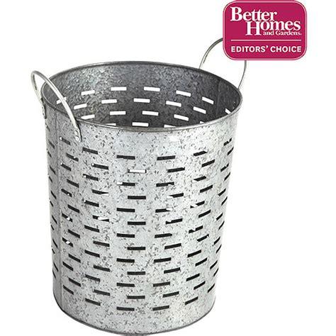 better homes and gardens galvanized bin silver