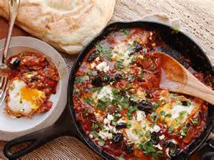 shakshuka style poached eggs in spicy tomato sauce recipe serious eats
