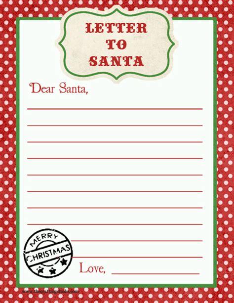 letter to santa template letter to santa free printable printable 28753