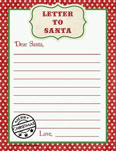 letter to santa free printable download printable With downloadable santa letters
