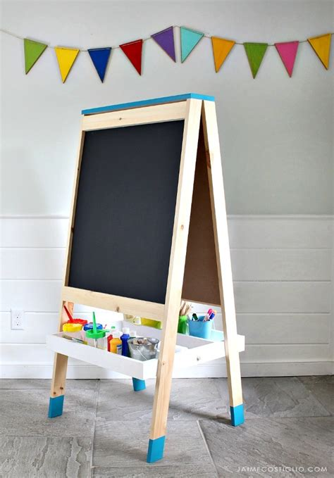 ana white easel  kids diy projects