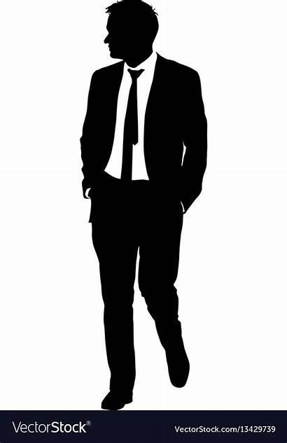 Silhouette Suit Vector Businessman Tie Vectorstock Suits