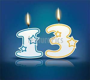 Celebration: Birthday Candle Number 13 - Stock ...