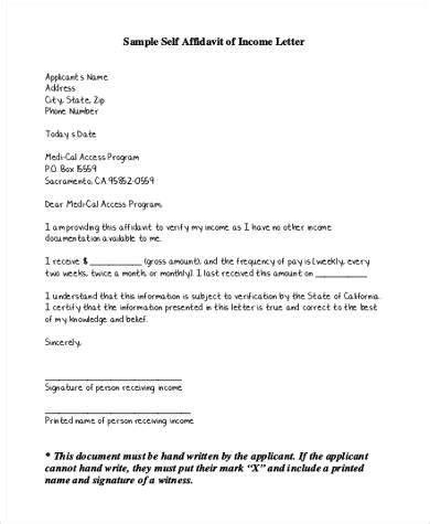 letter of affidavit 21 affidavit form exles free sle exle format