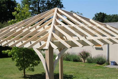 tonnelle en bois mc timonier fabrication charpente en kit