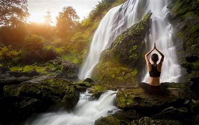 Yoga Waterfall Wallpapers Waterfalls Nature Backgrounds Wallpaperaccess