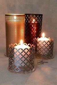 easy sheet metal candle lantern my repurposed lifer With kitchen cabinets lowes with covered candle holders