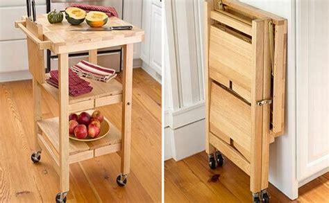 fold away kitchen island space saver fold away kitchen counter top when not in use hometone