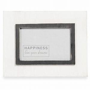 Cadre Marie Louise : cadre photo blanc et noir 10x15cm marie louise maisons du monde ~ Melissatoandfro.com Idées de Décoration