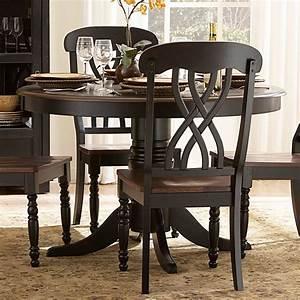 Set Table Rond : ohana black round dining room set casual dinette sets ~ Teatrodelosmanantiales.com Idées de Décoration