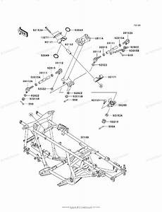 Kawasaki Atv 2008 Oem Parts Diagram For Frame
