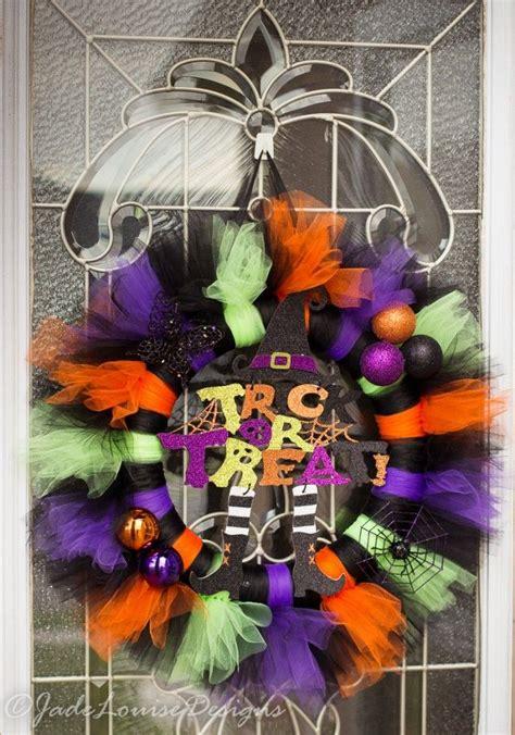 ideas  halloween tulle wreath  pinterest