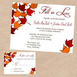 fall themed wedding invitations request a custom order and something made just for you