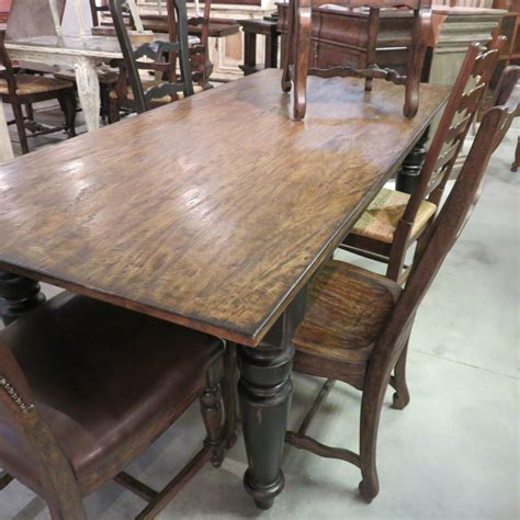 rustic floor l with table rustic wood dining table dining room farmhouse with brick