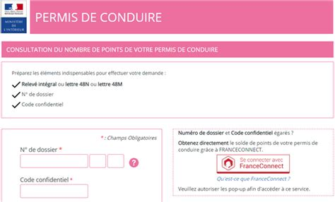 Interieur Gouv Fr Points by Comment Conna 238 Tre Le Nombre De Points Sur Votre Permis De