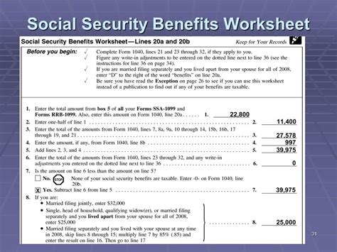 social security benefits worksheet liberty tax service basic income tax course lesson