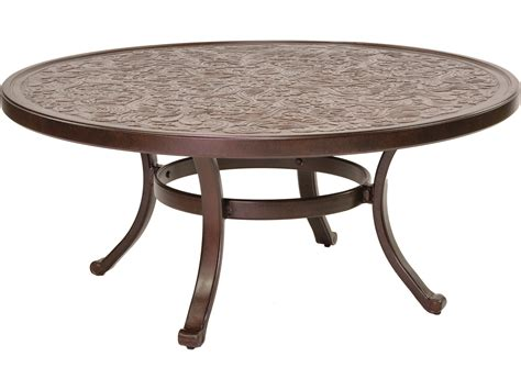 Place a patio coffee table at the bend of your outdoor sectional couch and scatter a few coordinating patio end tables near the other seats. Castelle Vintage Cast Aluminum 42 44 Round Coffee Table Ready to Assemble NCC42 | Round wood ...